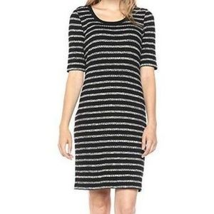 Kensie Striped Sheath Casual Dress NWT - Black